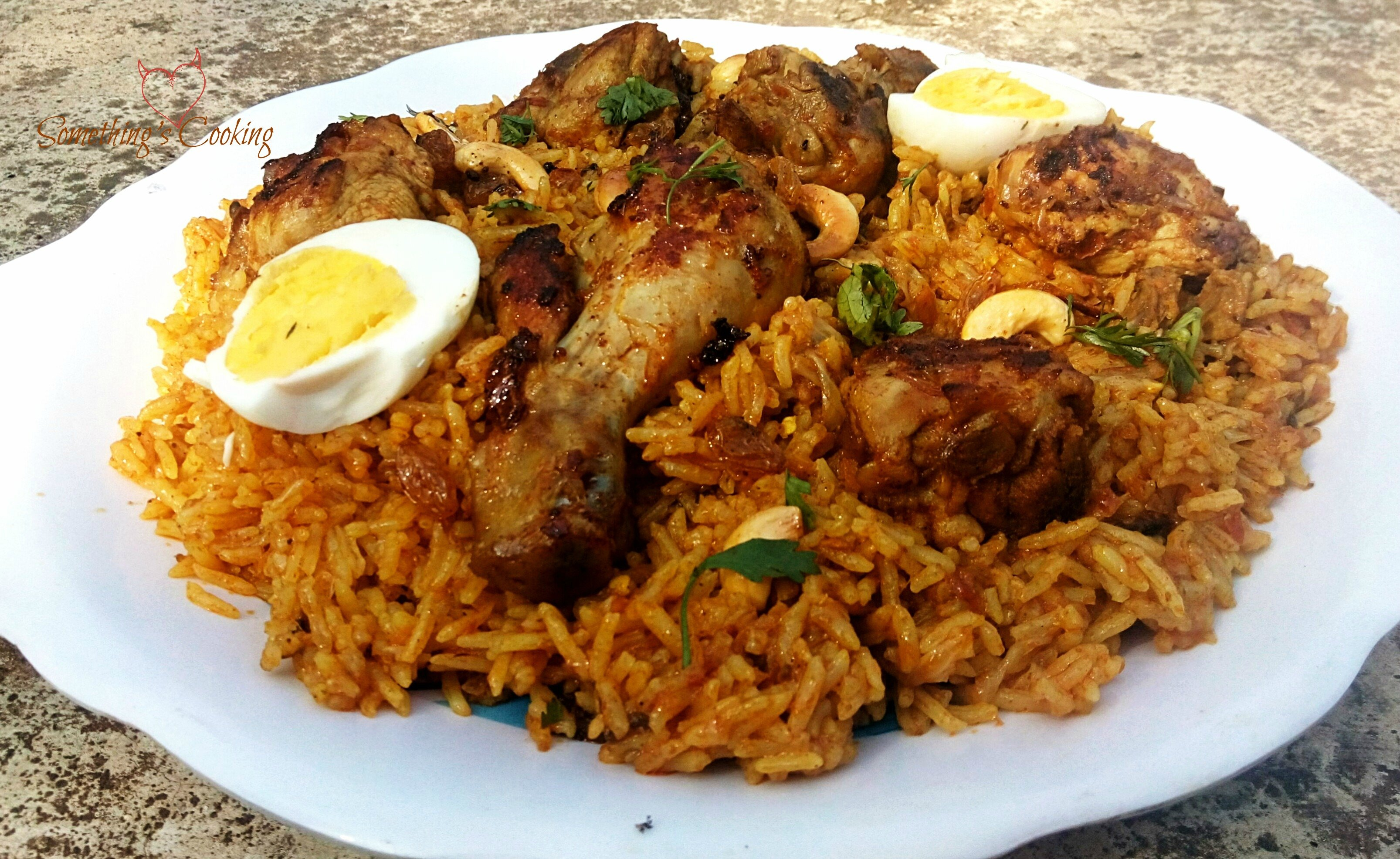 Chicken Kabsa – Rice mixed with Spices and Meat