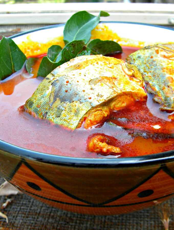 Mackerel Fish curry with boiled rice- Kerala Recipe