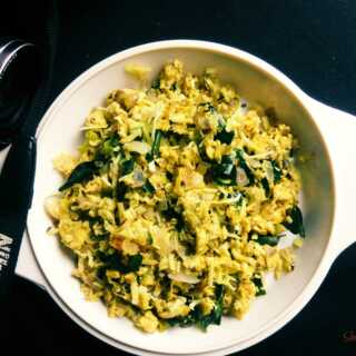 Scrambled Eggs with Grated Coconut (Mutta Thoran)