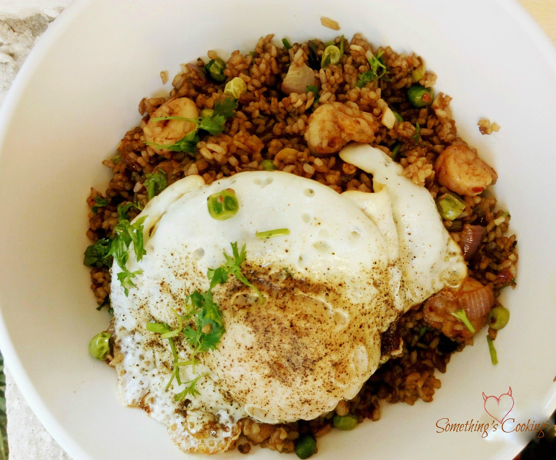 Thai Fried Rice with Prawns & Peas