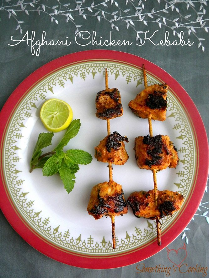Afghani Chicken Kebabs - Appetizer - Recipe - Images