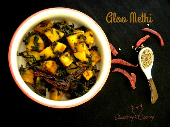 Aloo Methi Potatoes Fenugreek Leaves