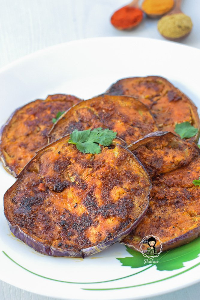 South Indian Style Eggplant Fry
