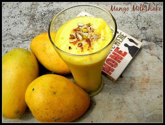 Mango Milkshare - Recipe - At home - Images