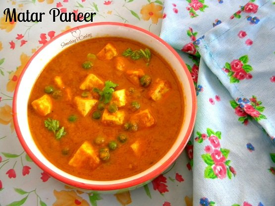 Matar Paneer - Paneer Peas - Recipe - North Indian