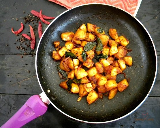 Potato Saute- Potato Fry- Sambar powder- Recipe