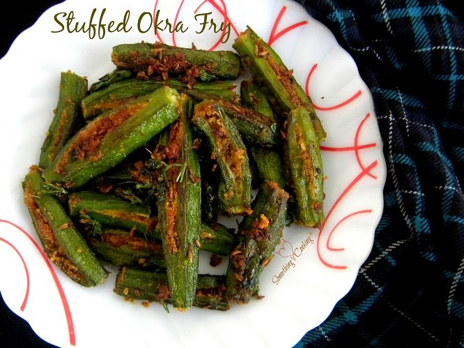 Stuffed Okra Fry Recipe - Images - Indian