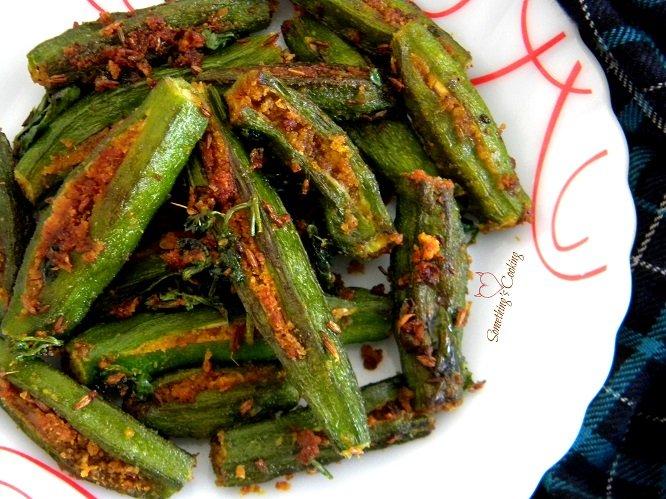 Stuffed Bhindi Recipe. Courtesy: SomethingIsCooking.com