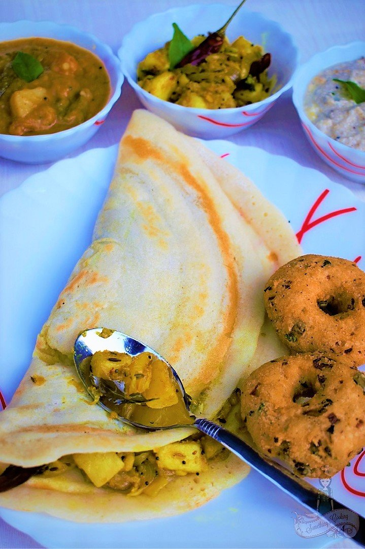 how to eat paper masala dosa