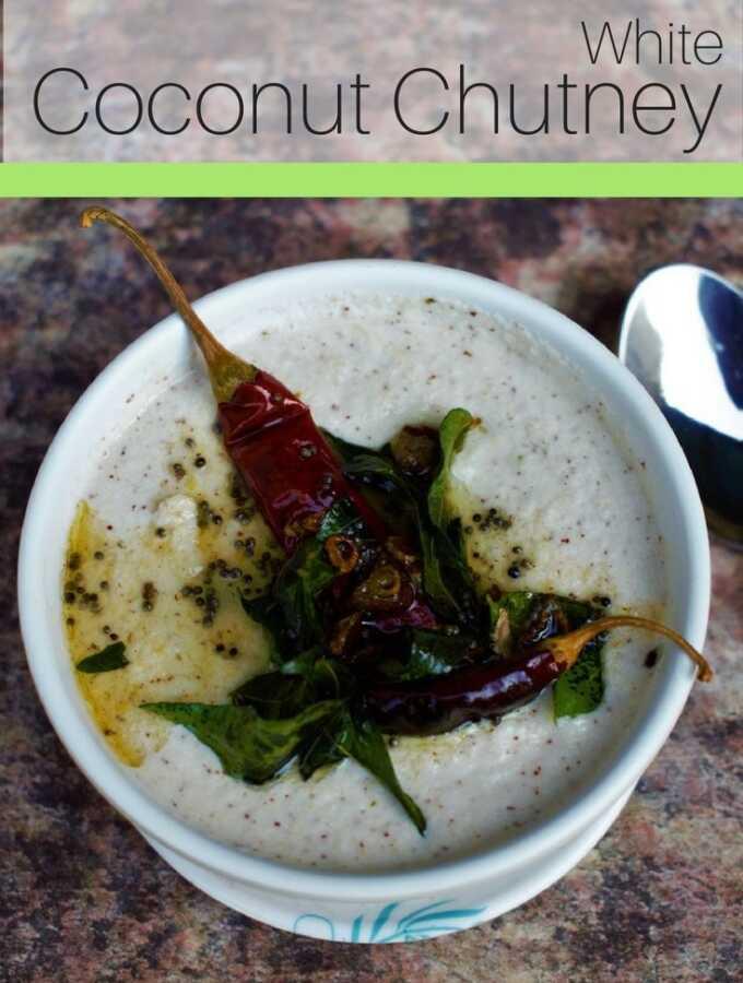 White Coconut Chutney Pinterest - Recipe White Coconut Chutney