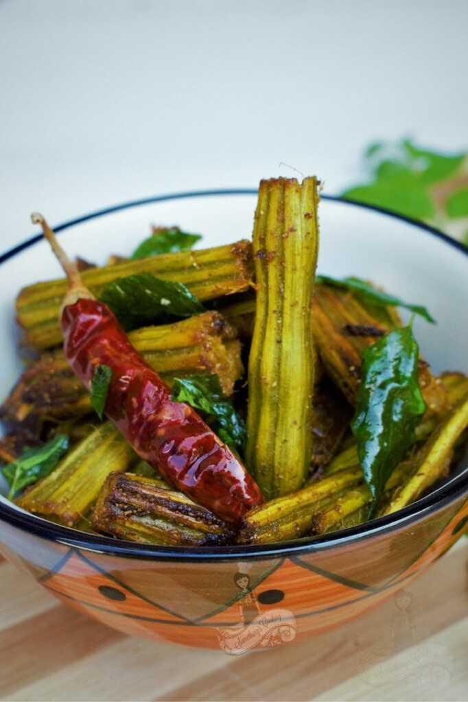 Kerala style drumstick muringa muringakka fry recipe