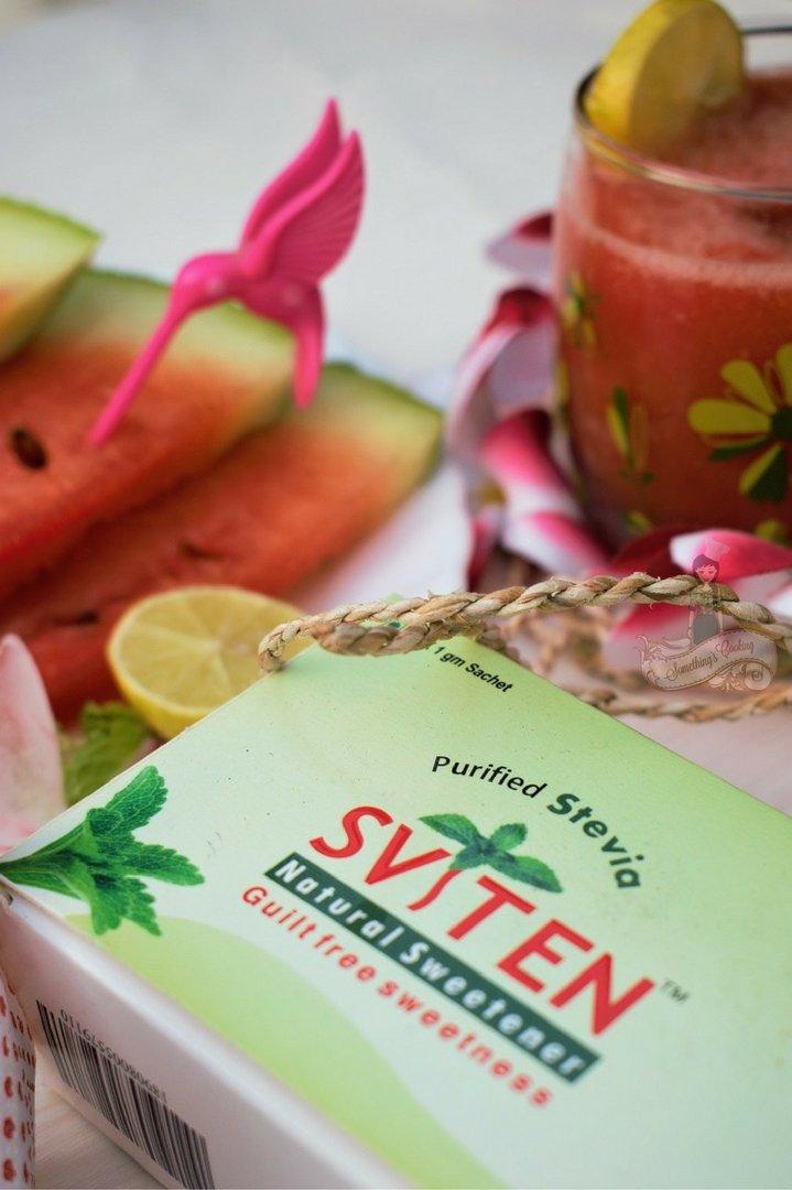 Watermelon Lime Slush with Sviten Natural Sweetener - Natural Sweetener benefits - Sviten benefits