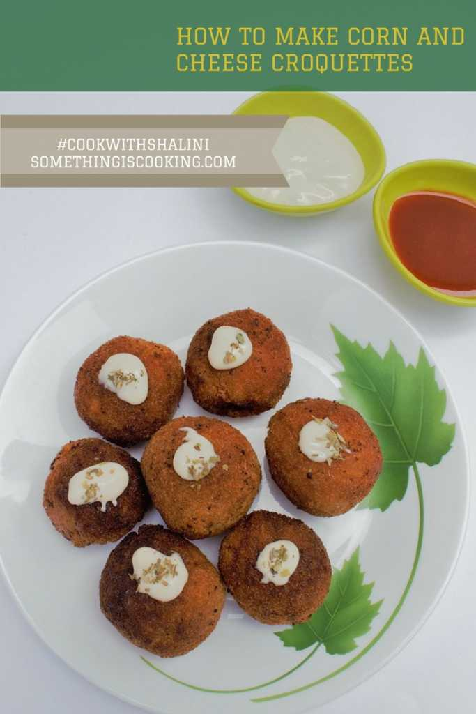 Corn and Cheese Croquettes Pinterest somethingiscooking.com