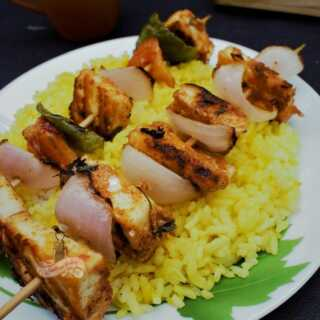 Tandoori Paneer Tikka on stovetop recipe
