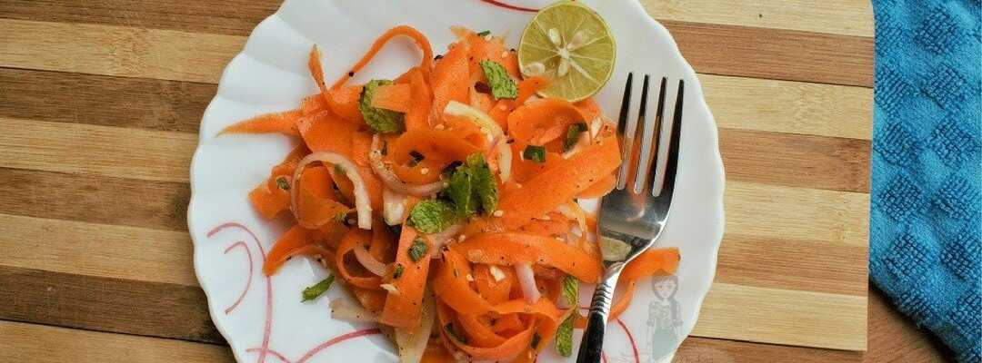 Carrot Ribbon Salad with Sesame Honey Dressing
