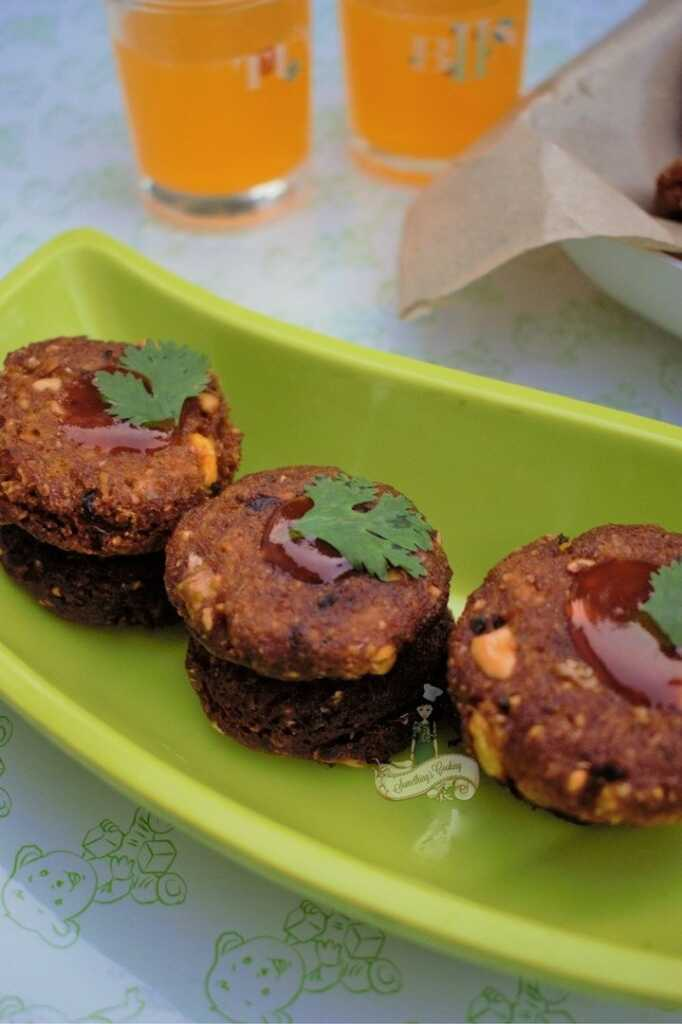 Thai Corn Peanut Cutlet snack recipe