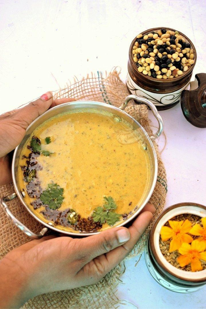 Bhatt ki Dal - Bhatt ki Churkani - Uttarakhand recipe - Kumaoni food
