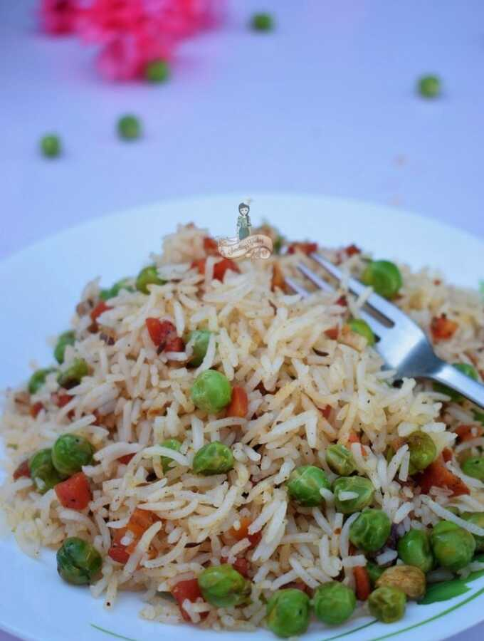 Carrot Pea Pilaf Indian Rice
