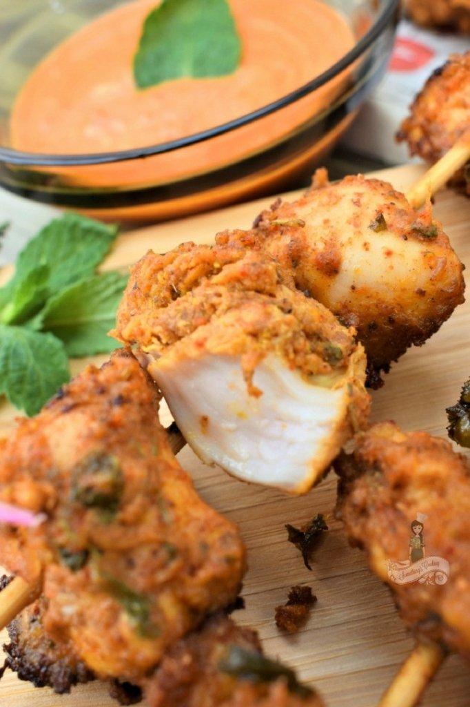 Achari Chicken Appetizer - How to make achari chicken at home somethingiscooking