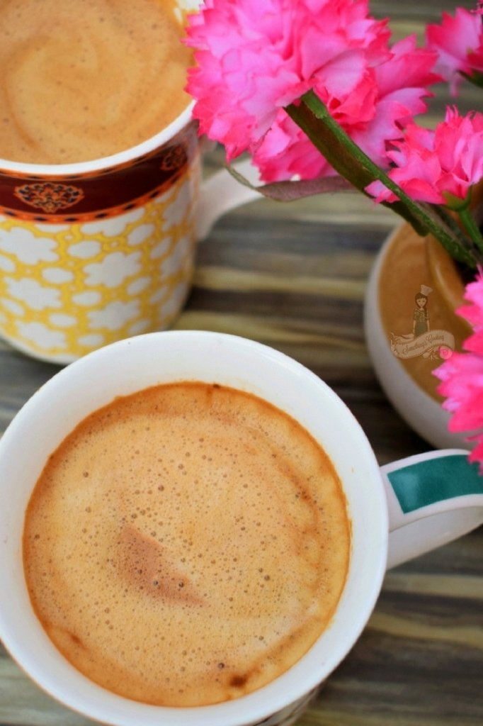 beaten coffee- cappuccino at home somethingiscooking.com