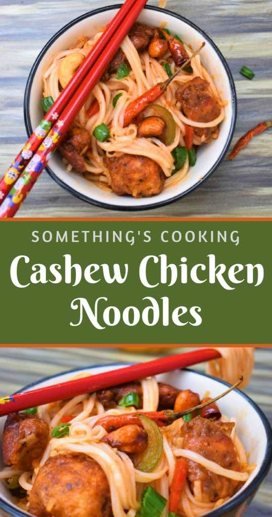 Cashew Chicken Noodles Pinterest somethingiscooking.com