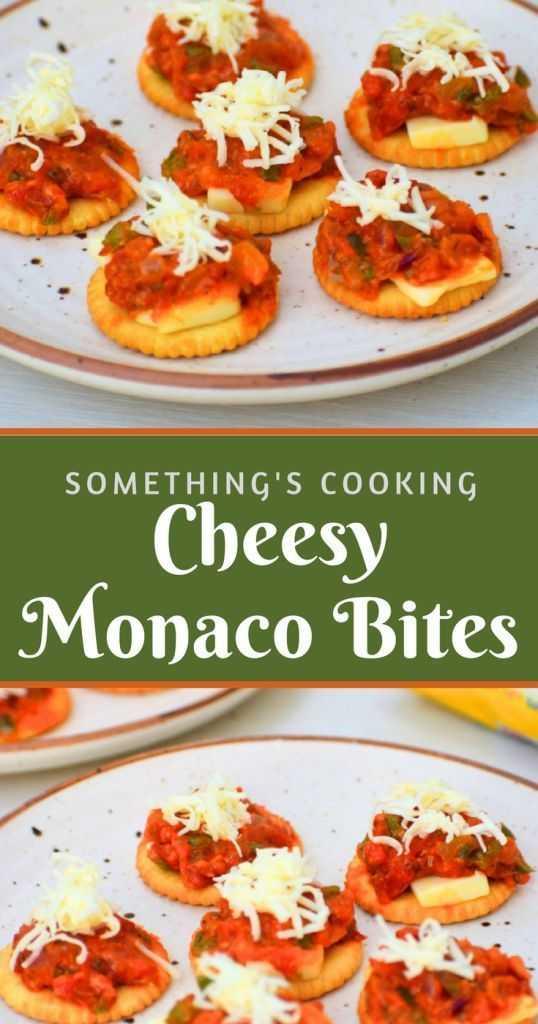 Cheesy Monaco Bites party appetizer somethingiscooking.com
