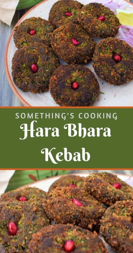 Hara Bhara Kebab - Indian Green Vegetable Patties somethingiscooking.com