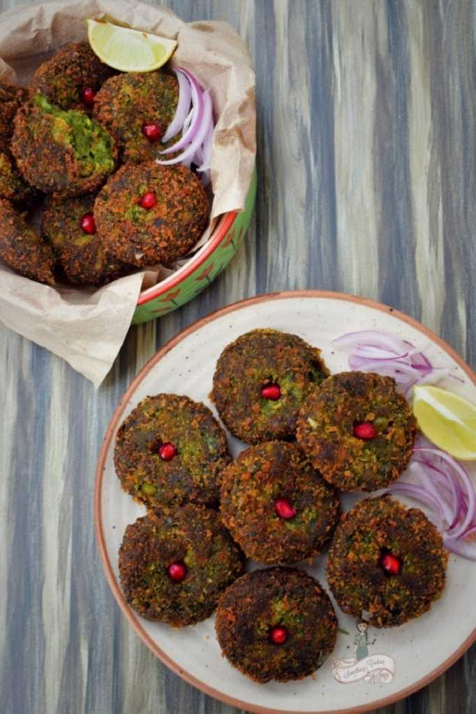 Hara BHara Kebab Vegetable cutlet somethingiscooking.com