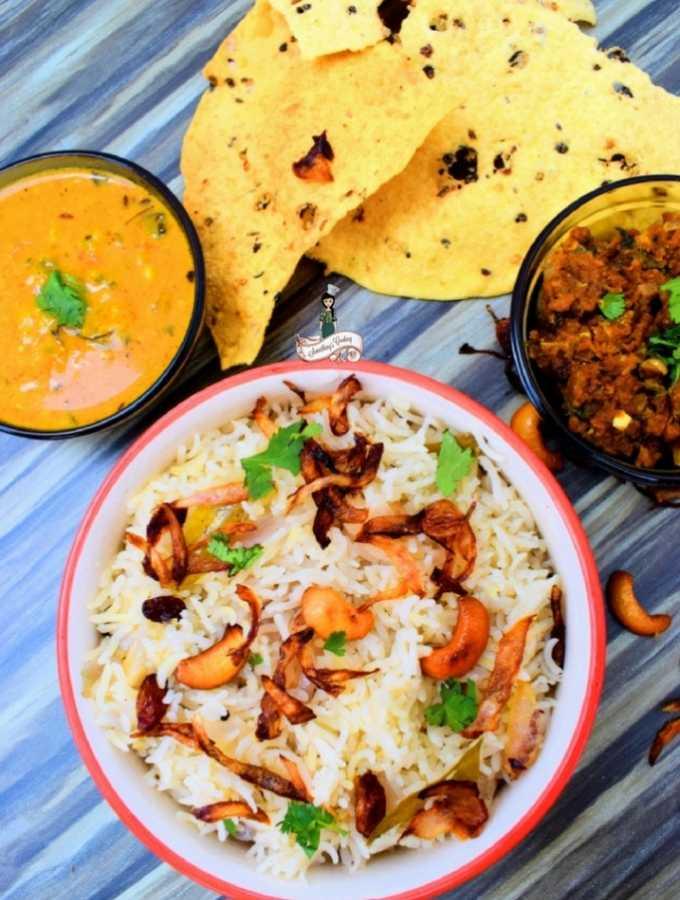How to make Kerala Neichoru Ghee Rice somethingiscooking.com