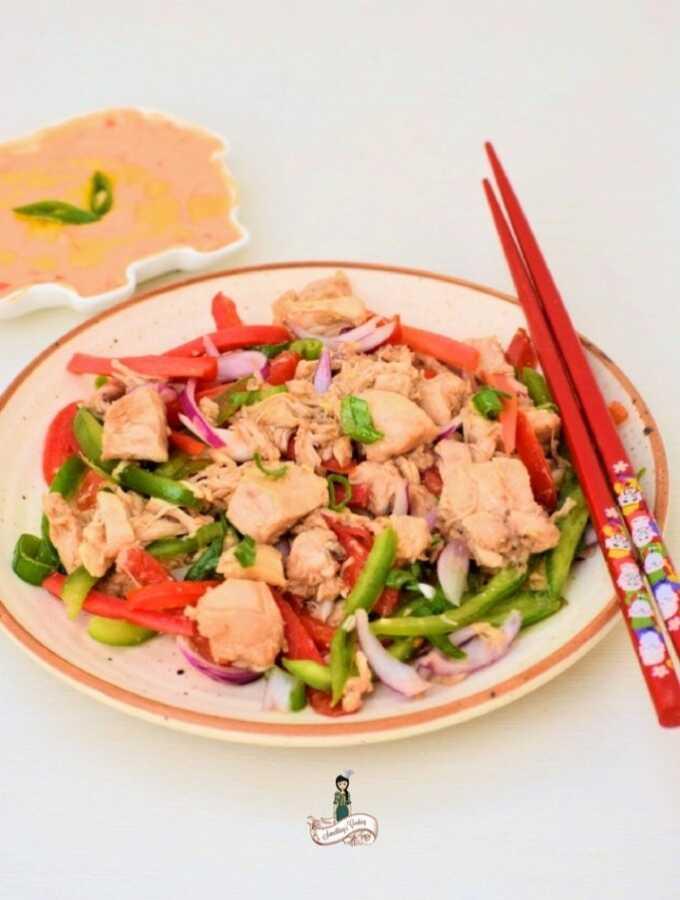 Oriental Chicken Salad somethingiscooking.com