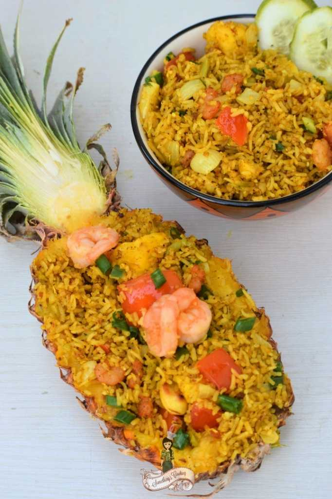 Thai Pineapple Fried Rice somethingiscooking.com