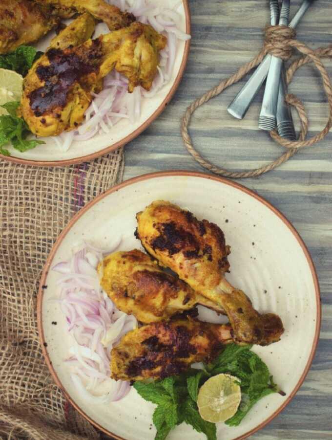 Tangri Kebab tangdi kabab without oven somethingiscooking.com