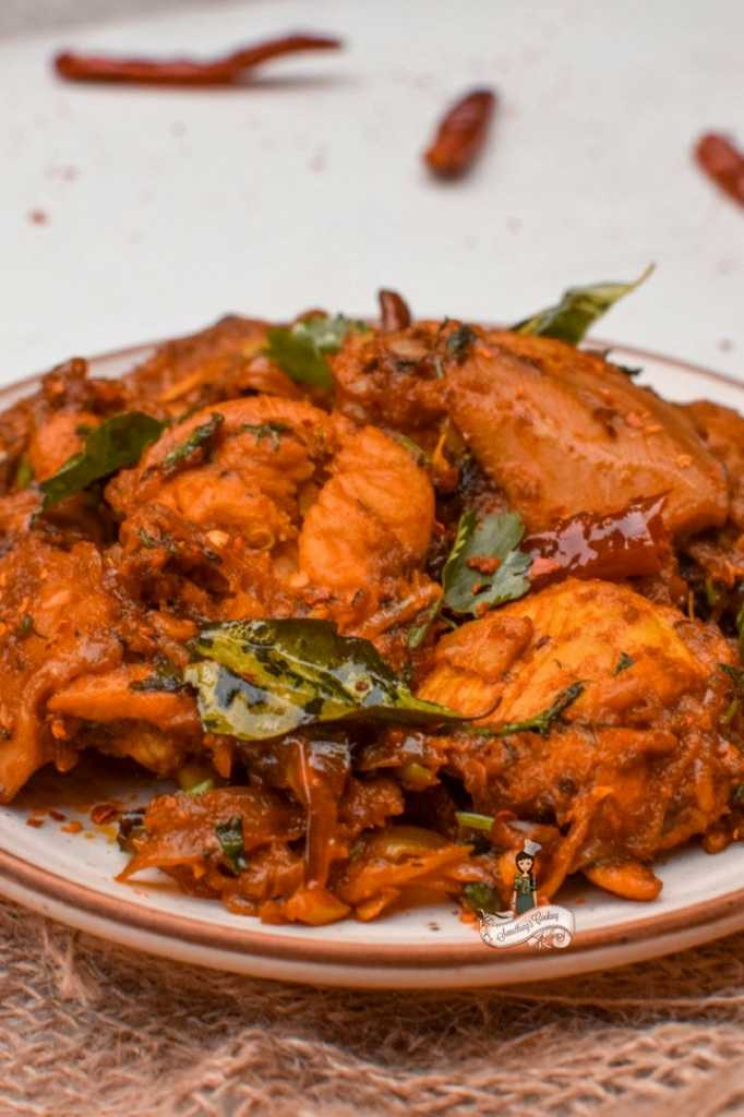 Kerala chicken roast- chicken piralan - peralan somethingiscooking.com