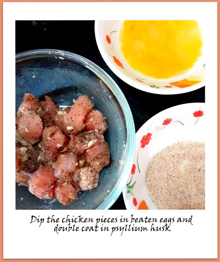 Keto Sweet and Sour Chicken2 - step by step instructions