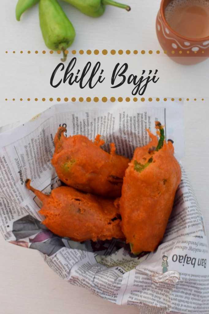 Chilli Bajji- Mulaku Bajji Recipe