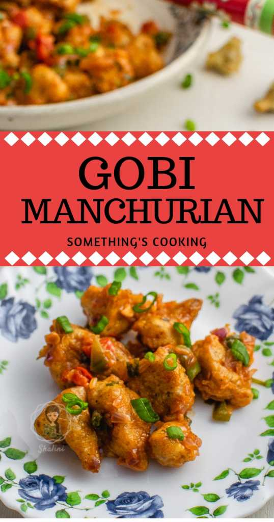 Gobi Manchurian or Caulliflower Manchurian is a popular Indo Chinese dish made with crispy fried cauliflower tossed in a delicious Manchurian sauce.