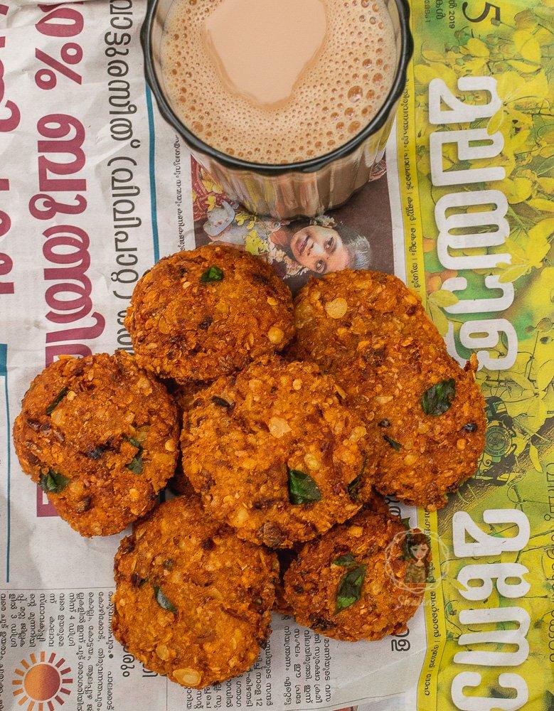 Kerala Lentil Fritters Nadan Parippu Vada