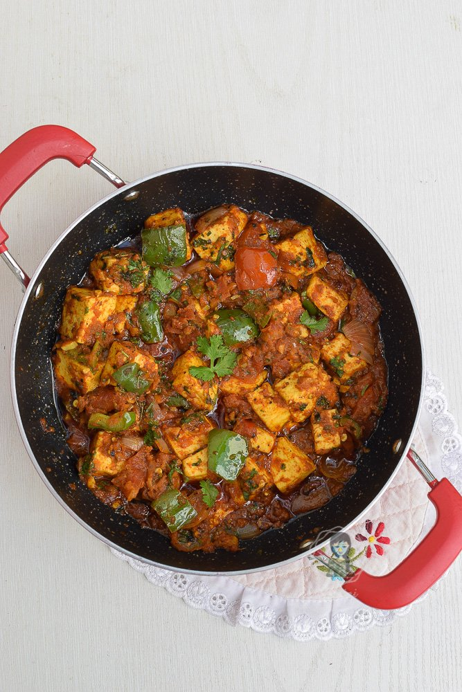 Dhaba style Kadai Paneer Recipe