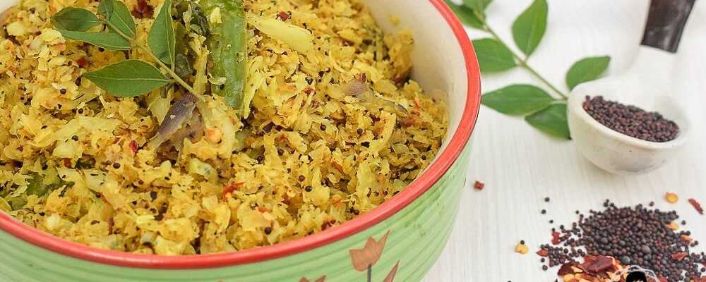 Cabbage Thoran | Kerala Style Stir-Fried Cabbage with Shredded Coconut