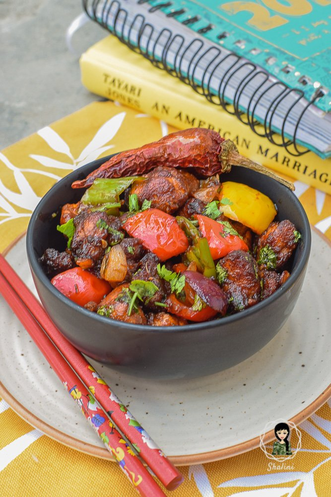 This Keto version of the regular Indo-Chinese Chilli Chicken is low carb, paleo and dairy-free