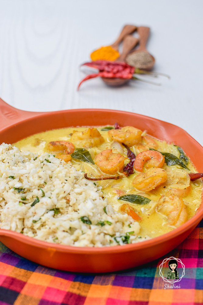 Step by Step Instructions and Images on making Keto Indian Shrimp Curry