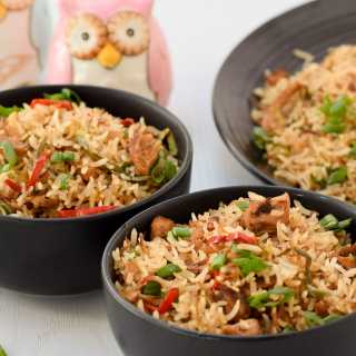 Bowls of Chinese Chicken Fried Rice