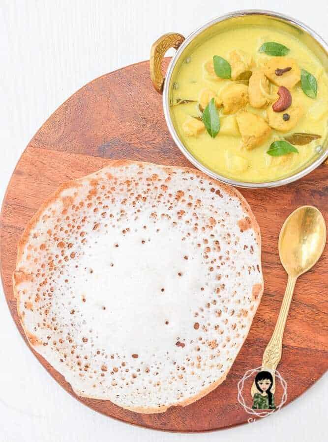 Appam with Chicken Stew Recipe