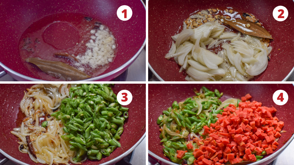 veg pulao step by step pictures