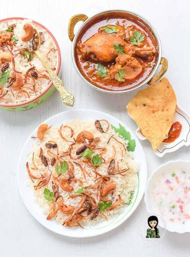 Neichoru and chicken curry