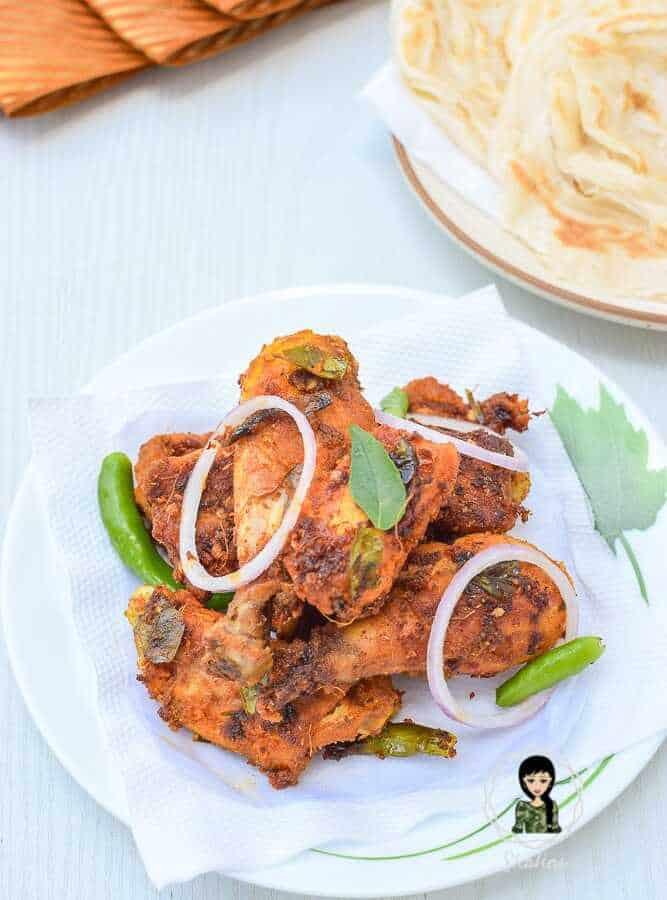 Thattukada Chicken Fry Recipe
