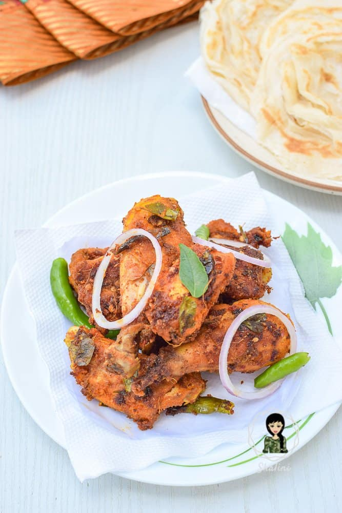 Thattukada Chicken Fry Recipe
