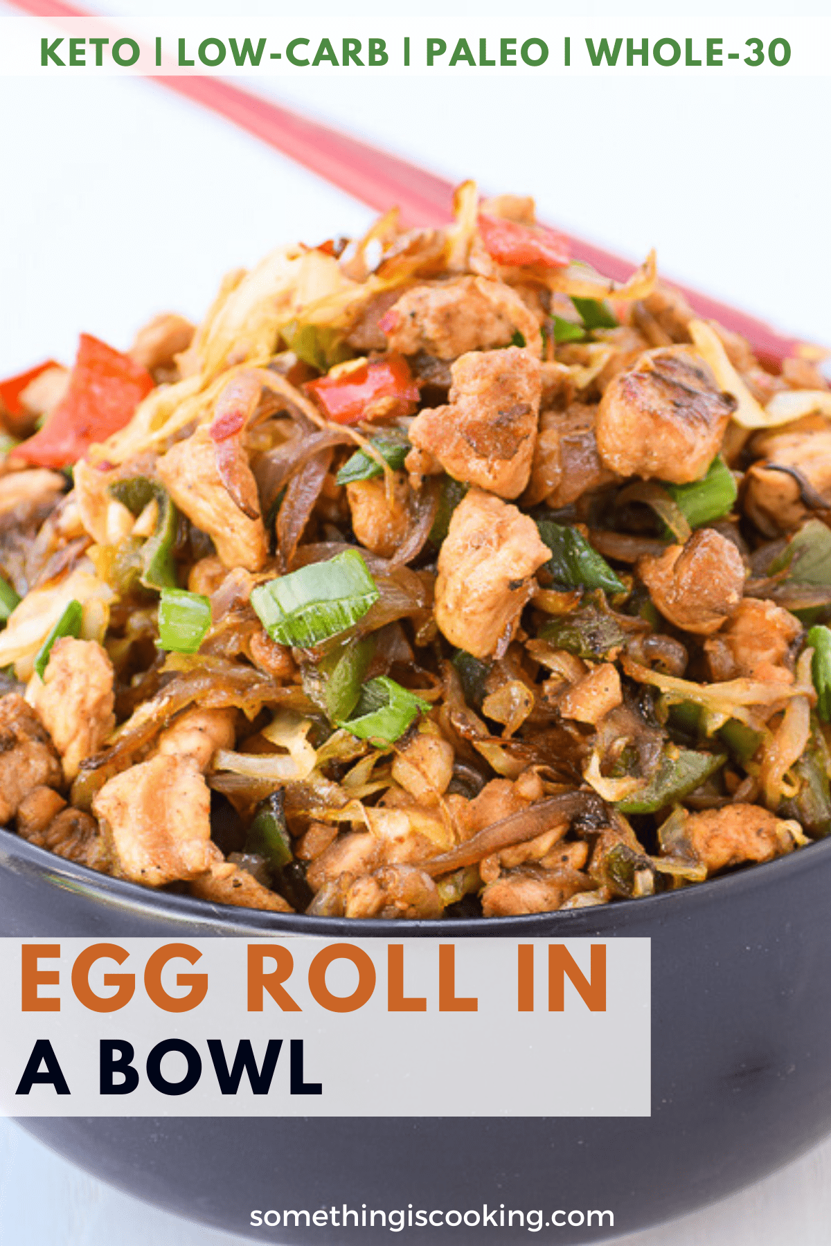 Keto Egg Roll in a Bowl Pin