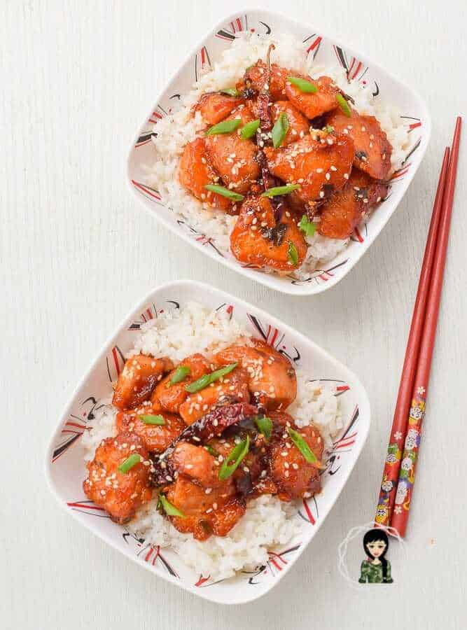 How to make honey sesame chicken with a sticky sauce