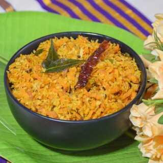 Carrot Thoran for Onam Sadya